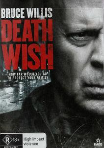 Bruce Willis DEATH WISH Brand New but UNSEALED Region 4  UPC: 9398700026972