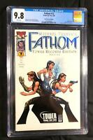 FATHOM 12 (CGC 9.8) TOWER RECORDS VARIANT, BLUE FOIL,CHARLIES ANGELS  HOMAGE*