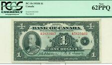 PCGS BC-1b 1935B $1 New 62PPQ Canada Serial #A5823403 Plate #A2/2