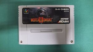 SNES -- MORTAL KOMBAT 2 -- Nintendo Super famicom. Japan game. work fully! 14533