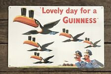 Lovely Day For A Guinness Tin Metal Beer Sign, 11� x 17�
