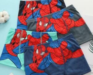 New 5pcs avengers spider-man Children boy underwear Boxer shorts kids gifts