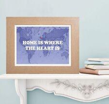 CASA è DOVE Il Cuore è Stampa Mappa-housewarming personalizzato o Buon Viaggio