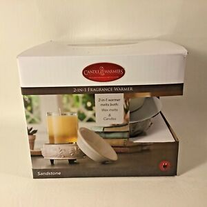 NEW Candle Warmers 2 in1 Fragrance Warmer Use with jar candles 10 oz. or smaller