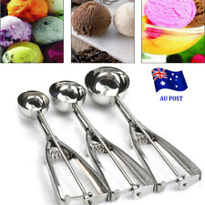 3x Stainless Steel Ice Cream Scoop 4 5 6cm Cookie Mash Muffin Spoon Kitchen EA
