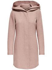 Only Damen-Woll-Mantel onlSedona mit Kapuze und Taschen Winterjacke Warm