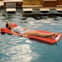 """Texas Rec 70"""" x 25"""" x 1.25"""" Sunray Swimming Pool Foam Mattress Float - Coral"""