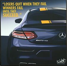 ❤️ Car C63 AMG Mercedes canvas quotes wall decals photo painting pop art poster