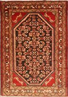 One-OF-A-Kind Geometric Lilian Hamedan Oriental Hand-Knotted Area Rug