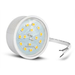Ultra Flaches LED Leuchtmittel 5Watt Modul 2700K Warmweiß 230V GU10 MR16 Ersatz