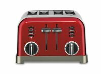 Cuisinart Metal Classic 4-slice Toaster - Toast, Defrost, Bagel, (cpt180mr)