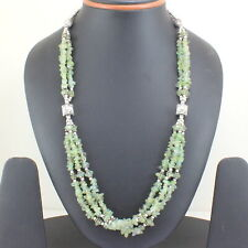 Necklace Natural Green Fluorite Gemstone Chips Beaded handmade Jewelry 57 Grams