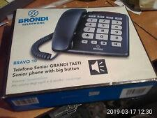 TELEFONO BRONDI BRAVO SUONERIA A LUCE VIVA VOCE TASTI MEGA DEBOLI UDITO ANZIANI