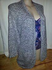 CROSSROADS grey 99cm long knit cardigan jumper jacket top + pockets 20 NEW