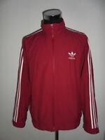 vintage 90er Jahre ADIDAS Jacke sportjacke oldschool rot Trainingsjacke D6 M