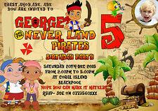 Personalizzato Ragazzi Pirata Festa Inviti Jack e Neverland pirati, party x8