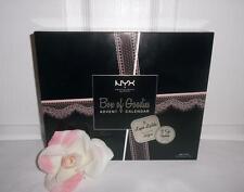 NYX Box Of Goodies 12 Lingerie Matte Liquid Lipstick + 12 Eyeshadow Gift Set Kit