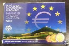 SLOVAQUIE COFFRET BE PROOF OFFICIEL 8 PIECES + MEDAILLE ARGENT 2009 !!!