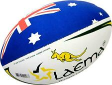 5 X KANGAROO -High Abrasion 4PLY Rugby Union OzTag Touch Match Ball Size 3,4&5