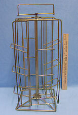 Counter Top Metal Wire Store Display Rack Rotating Spinning Table Top Gold Tone
