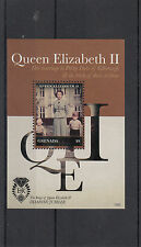 Grenada 2012 MNH Diamond Jubilee 1v Sheet Queen Elizabeth Marriage Philip Duke