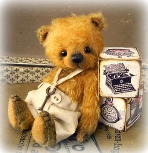 Sewing Kit for 7 inch Mohair Bear, Incl. Ready Made Trousers & Ribbon & Key
