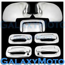 00-06 Chevy Tahoe Chrome Mirror+4 Door handle+Passenger Keyhole+Tailgate Cover
