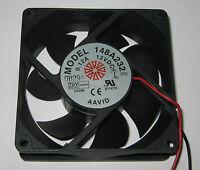 """Aavid 80 mm Cooling Fan - 12 V DC - 32 CFM - 27 dB - 12V DC Fan - 12"""" Long Leads"""