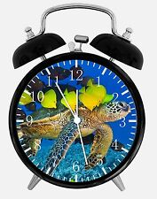 "Tropical Fish And Turtle Alarm Desk Clock 3.75"" Home Office Decor E87 Great Gift"
