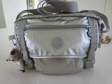 Kipling HB6254 052 Gracy GM shoulder bag Platinum  Metallic NWT $114