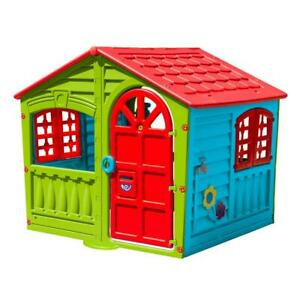 Childrens Play House Indoor Outdoor Backyard Playhouse Kids Multi-Color Fun Toy