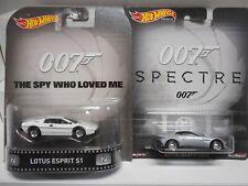 REAL RIDERS 007 JAMES BOND CARS HOT WHEELS 1:64
