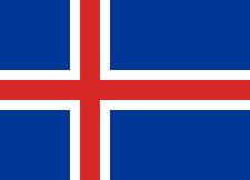Drapeau Islande, Drapeau Islandais 150 x 90 cm Neuf Fête Football Décoration