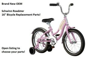 """Brand New Schwinn Roadster 16"""" PINK Bicycle Replacement Parts: Choose your part!"""