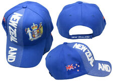 New Zealand Royal Blue White Letter Crest Patch On Side Embroidered Hat Cap