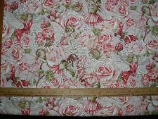 COTTON Fabric Michael Miller Sweet Garden on ROSE Roses  all over  BTY