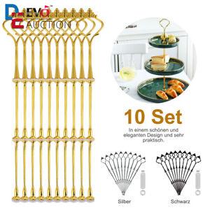 15 Sets Metallstangen Etagere Etageren für Tortenständer Etagenplatte 32cm