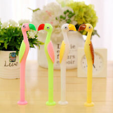 2PC Novelty Cute ostrich shaped Point Ballpoint Pen Office Stationery
