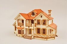 Garden House C Wooden Model Construction Kit 3D Woodcraft by YongModeler