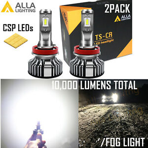 Alla Lighting UM LED Brightest White H8 Driving Fog Light Bulb Replacement Lamp