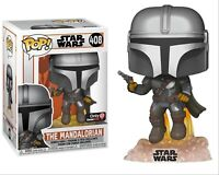 Funko Pop Star Wars The Mandalorian Flying With Blaster GameStop Excl. Preorder