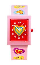 Tatiri Watch Baby Pink Analogue Hearts Time Wrist Girls Boys Fashion Children