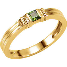 Mothers Ring in 14Kt White / Yellow / Rose Gold One Stone Stackable Mounting