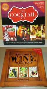 Party Kits Choice of Wine Tasting or Cocktail Kit NWT MSRP $39.99