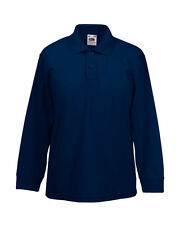 Fruit of the Loom Boys' Collared Polo T-Shirts, Tops & Shirts (2-16 Years)