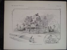 Victorian Design Architecture House Mansion Plans Historic Queen Ann 1885 #262-3