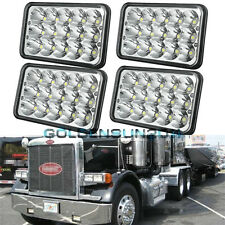 2 Pairs LED Headlights Sealed Beam Headlamps For FREIGHTLINER FLD120 112 FLD