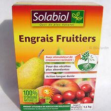 Engrais Fruitiers 1,5 Kg, Solabiol