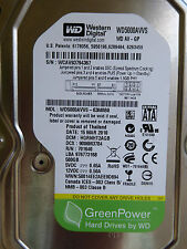 Western Digital WD5000AVVS-63M8B0 | DCM: HGRNHT2AGB | 15 MAR 2010 | 500 GB
