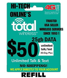 $50 TOTAL WIRELESS 🔥 FAST-> DIRECT PHONE 🔥 GET IT TODAY! 🔥 TRUSTED USA SELLER